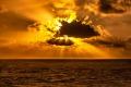 Soleil a travers les nuages